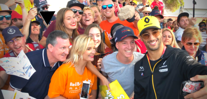 2019 Australian Grand Prix: Drivers with Fans