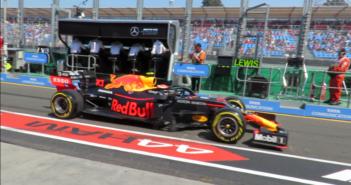 Pit lane walkthrough during LIVE F1 Session