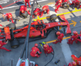 Ferrari F1 Pit Stop Practice – Birds Eye View