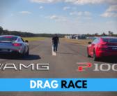 DRAG RACE: Tesla Model S P100D vs Mercedes-AMG GT S