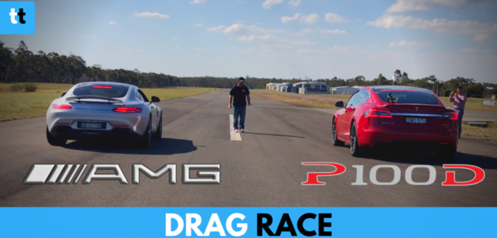 DRAG RACE: Tesla Model S P100D vs Mercedes-AMG GT S